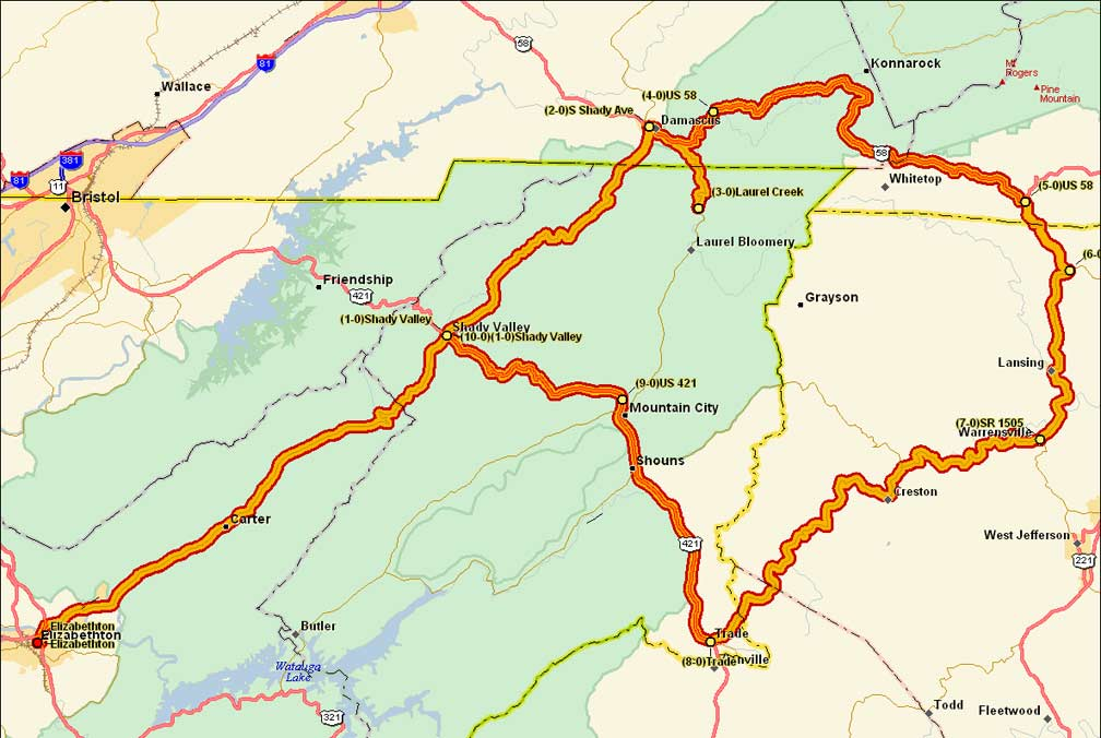 Hwy 421 Nc Map.Snake 421 Ride Information The Snake 421 Motorcycle Road